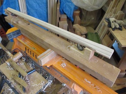 杵柄のカンナ削り