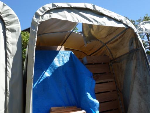 テント倉庫の被害