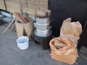 餅つき用品レンタル・薪