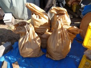 餅つき用品レンタル用の薪の袋