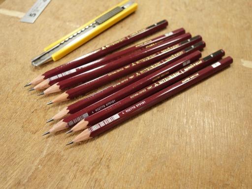 鉛筆を削って杵作り
