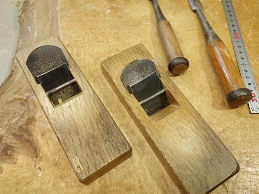 杵を削るための手カンナ