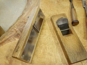 杵の仕上げ削り用手カンナの仕立て
