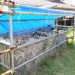 餅つき用品レンタル用の薪作り